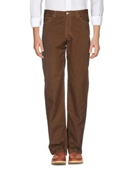 Fred Perry Casual Pants Brown