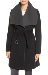 Sam Edelman Women's Melton Belted Double Face Wrap Coat
