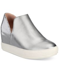Wanted Adiron Platform Wedge Sneakers Women's Shoes Silver