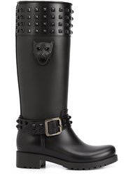 Philipp Plein 'Kingdom' Rain Boots Black