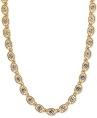 2028 Crystal Filigree Collar Necklace Gold
