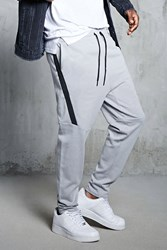 Forever 21 Faux Leather Stripe Sweatpants Grey