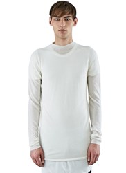 Rick Owens Level Lupetto Cashmere Sweater White