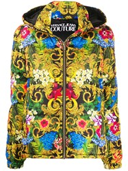 Versace Jeans Couture Multi Print Hooded Down Jacket 60