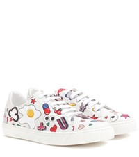 Anya Hindmarch All Over Wink Leather Sneakers Multicoloured