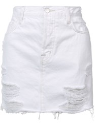J Brand Short Denim Skirt Women Cotton 29 White