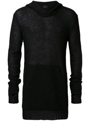 Lost And Found Ria Dunn Slim Fit Knitted Hoodie Men Linen Flax Nylon Mohair S Black