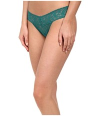 Hanky Panky Signature Lace Low Rise Thong Juniper Women's Underwear Green