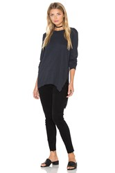 Black Orchid Long Sleeve Asymmetrical Top Navy
