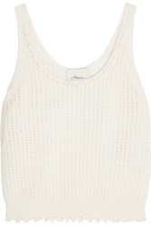 3.1 Phillip Lim Open Knit Wool Blend Tank Ivory