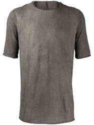 Masnada Perforated T Shirt Grey