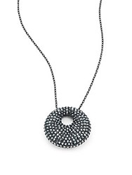 Swarovski Crystal Studded Pendant Chain Black