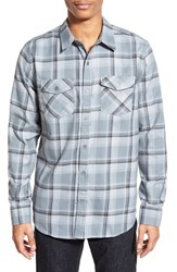 Men's Hurley 'Bailey' Dri Fit Plaid Woven Shirt Cool Grey