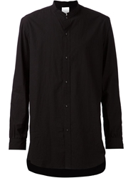 The Viridi Anne Mandarin Collar Shirt Black