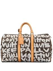 Louis Vuitton Vintage Keepall 50 Graffiti Bag Brown