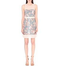 French Connection Adeline Sequinned Dress Peonie Multi