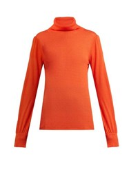Goat Garbo Roll Neck Sweater Orange