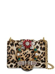 Miu Miu Cavallino Leopard Print Leather Bag