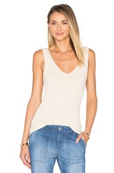 Project Social T Kate Double V Tank Beige
