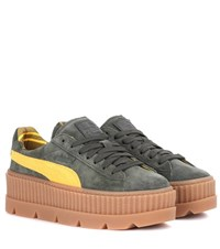Fenty By Rihanna Creeper Suede Sneakers Green