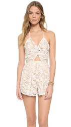 6 Shore Road Skinny Dippers Romper Moonlight White