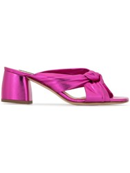 Fabio Rusconi Cross Front Mules Purple