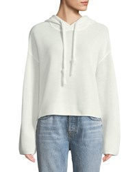 Kendall Kylie Mesh Cropped Pullover Sweatshirt White