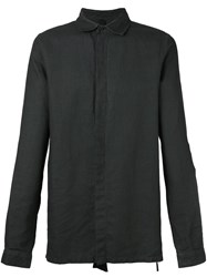 Army Of Me Concealed Button Shirt Black