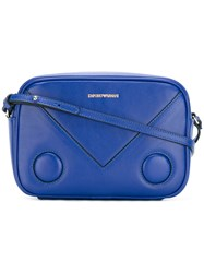 Emporio Armani Logo Print Cross Body Bag Blue