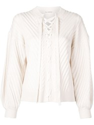 Ulla Johnson Lace Up Jumper White