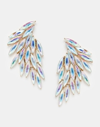 Love Rocks Jewelled Fan Earrings Clear