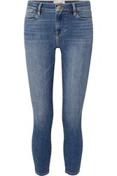 Frame Le High Cropped Skinny Jeans Mid Denim
