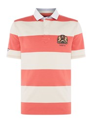 Howick Men's Santa Cruz Block Stripe Short Sleeve Rugby Watermelon