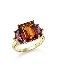 Bloomingdale's Citrine And Garnet Statement Ring In 14K Yellow Gold Brown Red