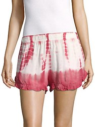 Young Fabulous And Broke Romy Tie Dye Printed Shorts White