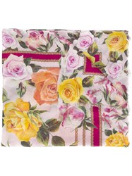 Dolce And Gabbana Floral Print Scarf