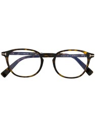 Tom Ford Eyewear Classic Round Glasses Brown