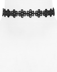 Vanessa Mooney Daisy Cutout Choker Necklace 12 100 Bloomingdale's Exclusive Black