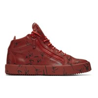 Giuseppe Zanotti Red May London High Top Sneakers