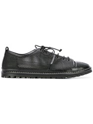 Marsell Perforated Lace Up Sneakers Black