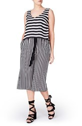 Elvi Plus Size Women's Stripe Jumpsuit