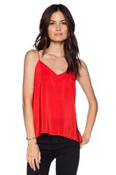 Amanda Uprichard Silk Cami Red