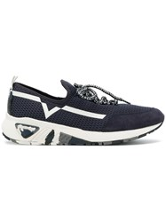 Diesel S Kby Sneakers Polyester Leather Suede Rubber Blue