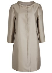 Armani Collezioni Gold Cotton And Silk Blend Coat