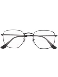 Ray Ban Matte Finish Hexagonal Frame Glasses 60
