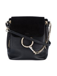 Chloe Faye Backpack Women Leather Metal One Size Black
