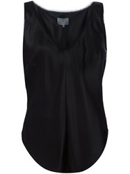 Maiyet Deep V Neck Tank Top Black