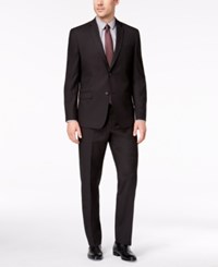 Marc New York By Andrew Men's Classic Fit Stretch Black Micro Grid Suit