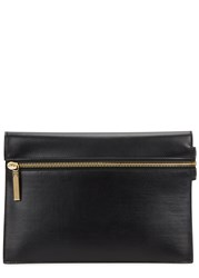 Victoria Beckham Small Black Leather Clutch
