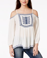 American Rag Embroidered Off The Shoulder Peasant Blouse Only At Macy's